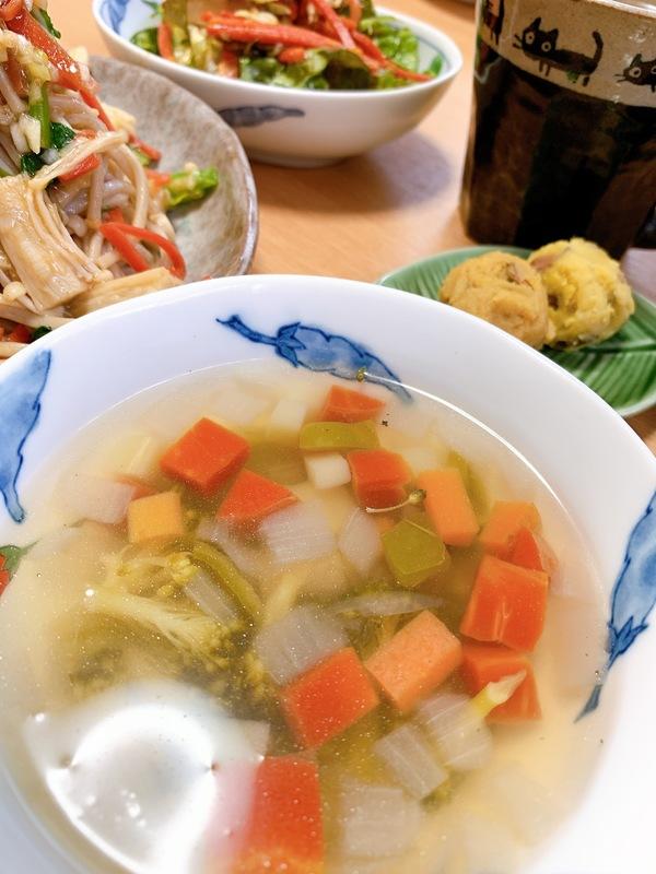 野菜スープで健康アップ